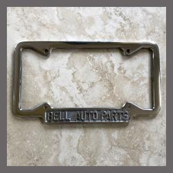 Bell Auto Parts Polished License Plate Frame