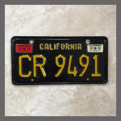 1963 California YOM Trailer License Plate For Sale - Original Vintage CR9491