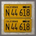 1956 California YOM License Plates For Sale - Original Vintage Pair N44618 Truck NOS