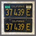 1963 California YOM License Plates For Sale - Original Vintage Pair 37439E Truck