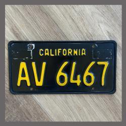 1963 California YOM Trailer License Plate For Sale - Original Vintage AV6467