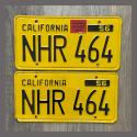 1956 California YOM License Plates For Sale - Original Vintage Pair NHR464