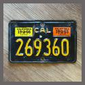 1963 California YOM Motorcycle License Plate For Sale - 269360