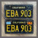 1963 California YOM License Plates For Sale - Original Vintage Pair EBA903