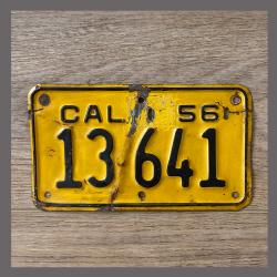 1956 California Motorcycle License Plate For Sale - 13641