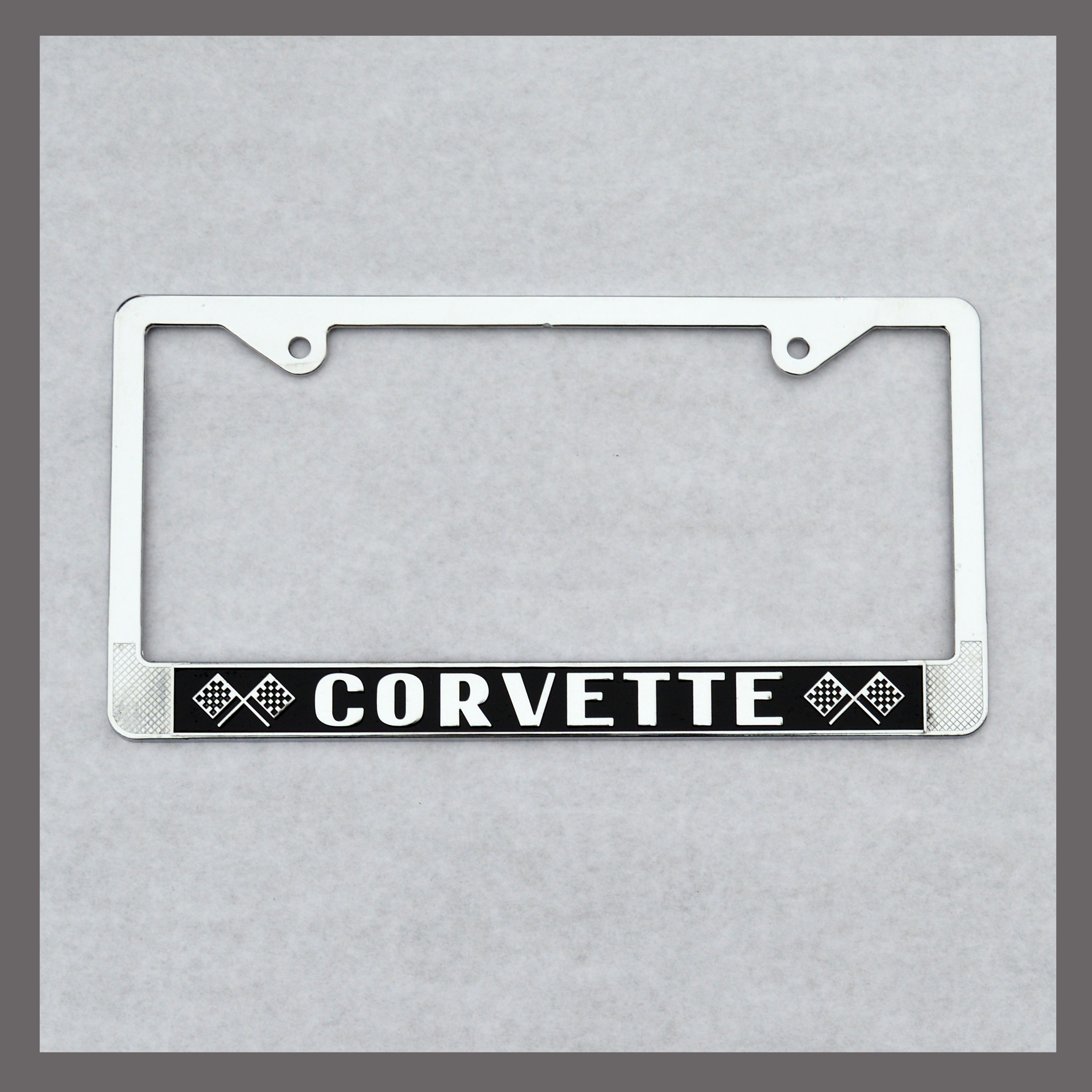 corvette license plate frame back to list