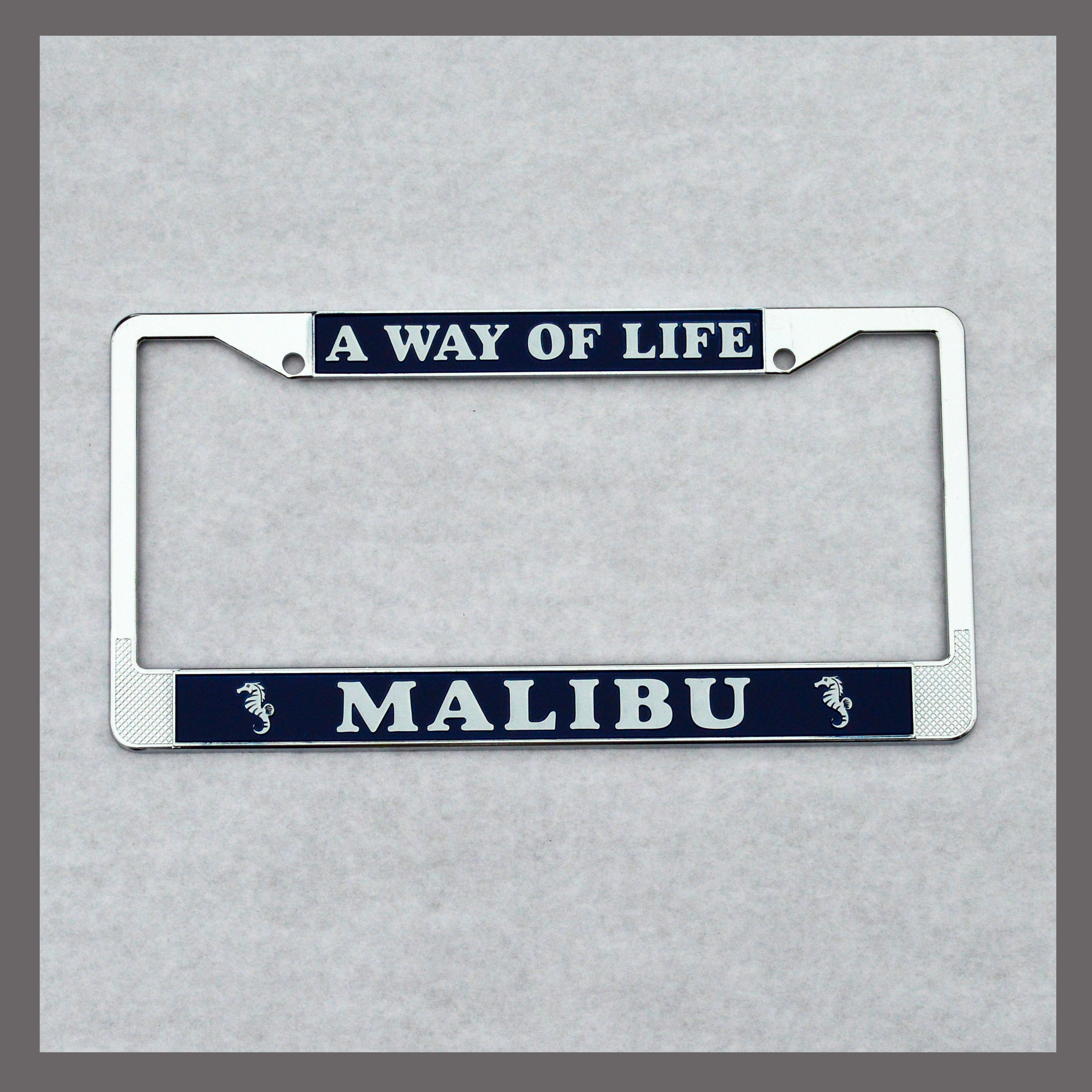 Malibu \'\'A Way of Life\'\' License Plate Frame For Sale