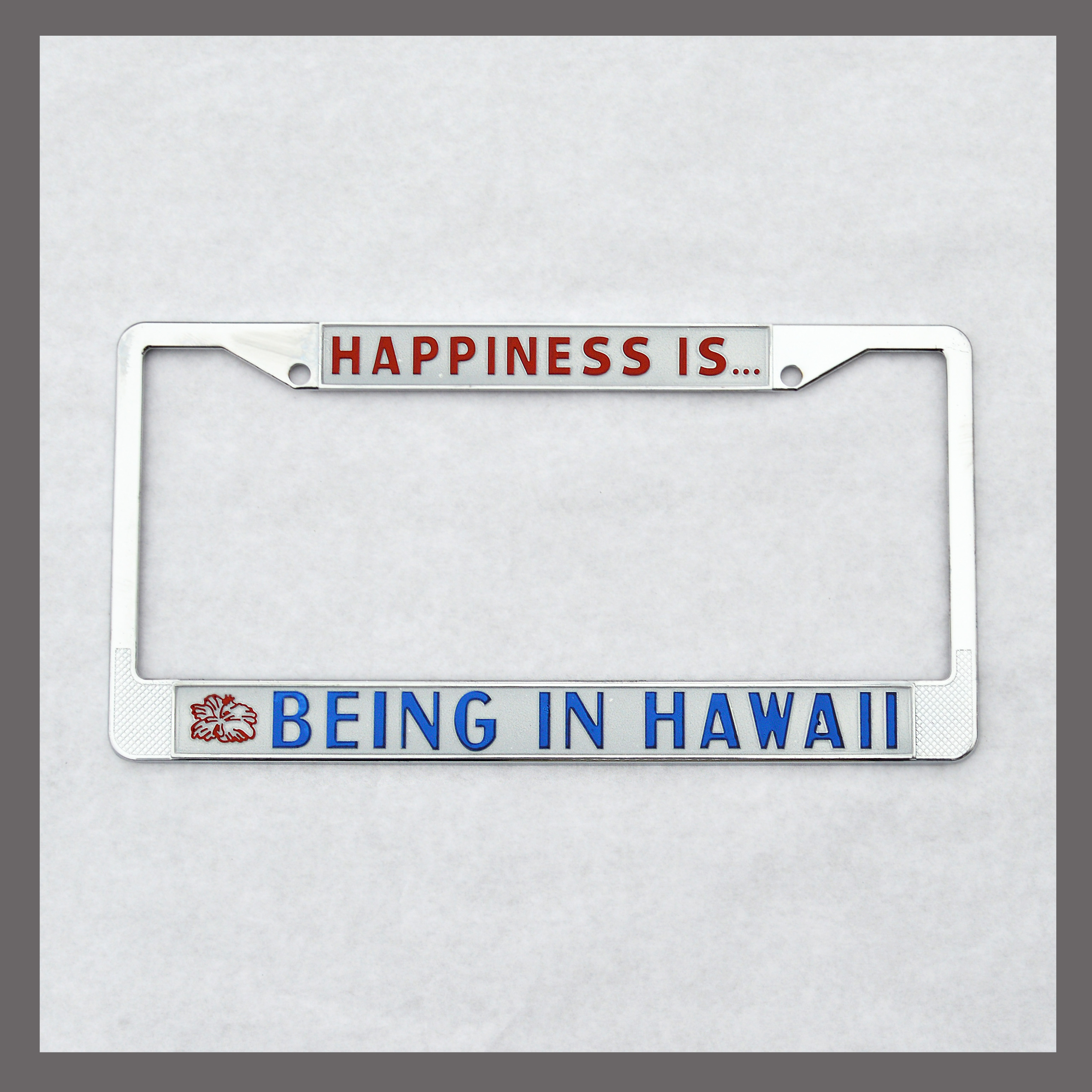 Happiness is Being in Hawaii License Plate Frame For Sale