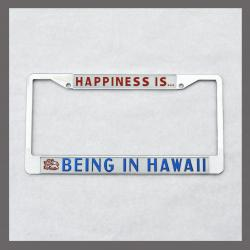Happiness is Being in Hawaii License Plate Frame