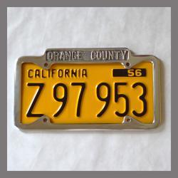 Orange County California Polished License Plate Frame
