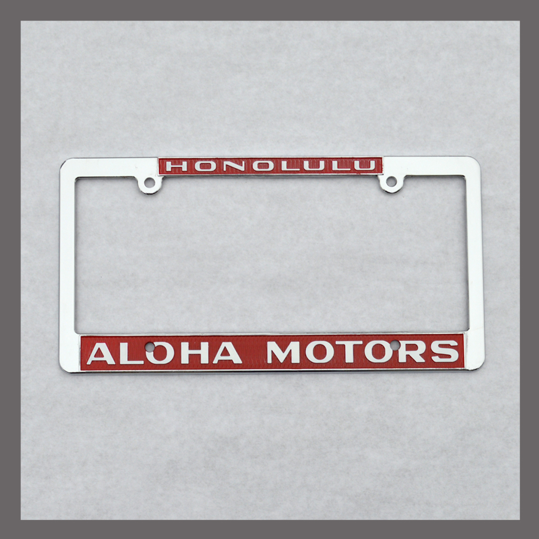 Aloha Motors License Plate Frame For Sale
