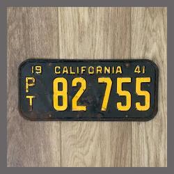 1941 California Trailer License Plate For Sale - Original Vintage 82755