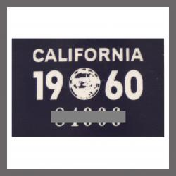 1960 California YOM DMV Motorcycle Sticker For Sale