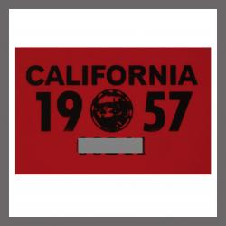 1957 California YOM DMV Motorcycle Sticker For Sale