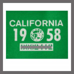 1958 CA YOM DMV Sticker - License Plate Registration
