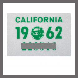 1962 California YOM DMV Motorcycle Sticker For Sale