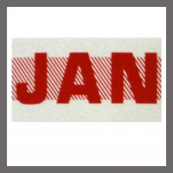 January CA Red DMV Month Sticker - License Plate Registration