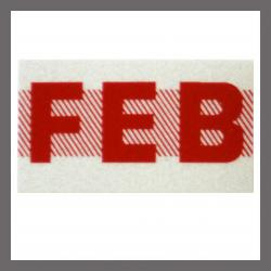 February CA Red DMV Month Sticker - License Plate Registration