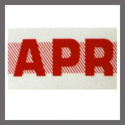 April CA Red DMV Month Sticker - License Plate Registration