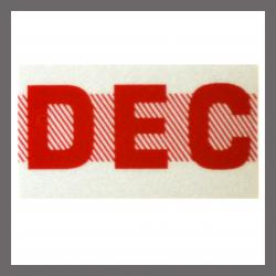 December CA Red DMV Month Sticker - License Plate Registration