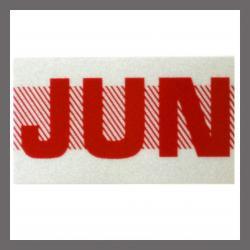 June CA Red DMV Month Sticker - License Plate Registration