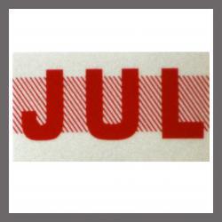 July CA Red DMV Month Sticker - License Plate Registration