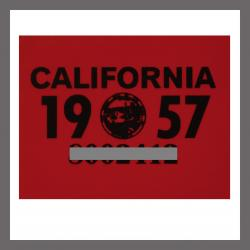 1957 CA YOM DMV Sticker - License Plate Registration