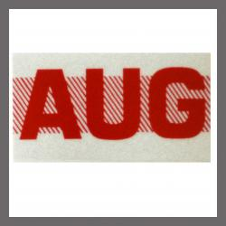 August CA Red DMV Month Sticker - License Plate Registration