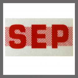 September CA Red DMV Month Sticker - License Plate Registration