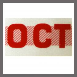 October CA Red DMV Month Sticker - License Plate Registration