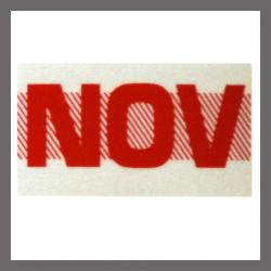 November CA Red DMV Month Sticker - License Plate Registration