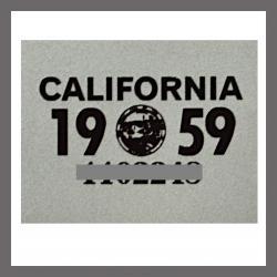 1959 CA YOM DMV Sticker - License Plate Registration
