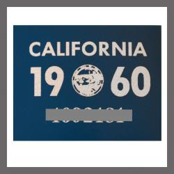 1960 CA YOM DMV Sticker - License Plate Registration