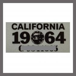 1964 CA YOM DMV Sticker - License Plate Registration