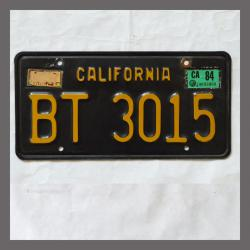 1963 California YOM Trailer License Plate For Sale - Original Vintage BT3015